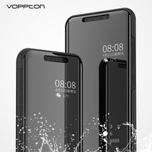 Voppton Plating Mirror Flip Case For Huawei honor note 10 Luxury PU Leather Holder Cover Case For Huawei honor note 10 Fundas