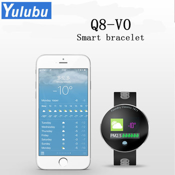 Yulubu New Q8-VO Fitness Tracker Smart Bracelet Heart Rate Smart Band Blood Pressure Monitor Waterproof Wristband For Smartphon