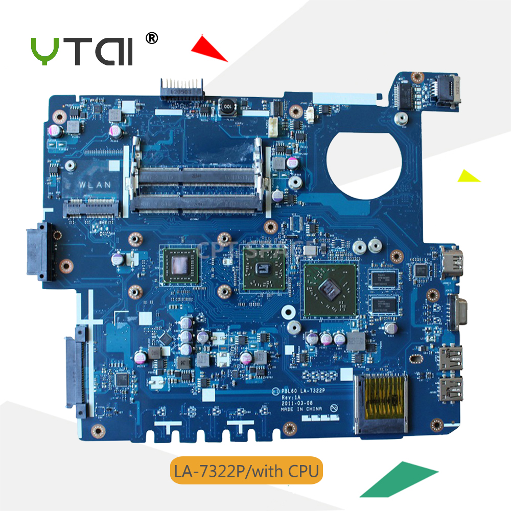 YTAI PBL60 LA-7322P motherboard for ASUS K53U X53U X53B K53B X53BY X53BR K53BY laptop motherboard with CPU 4 pcs memory card original new laptop shell cover c for asus k53b k53 x53b x53t x53u k53t k53b k53u