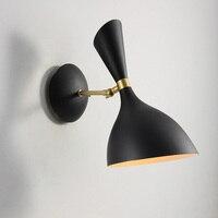 Meta Nórdico moderno preto/branco luz de parede Retro E14 Sótão Do Vintage lâmpada de Parede para sala quarto foyer