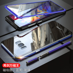 Image 3 - For Samsung Galaxy S10 5G S10 Plus S10e Case 360 Degree Full Magnetic Cover Front Back Glass Case For Galaxy S9 Plus Magnet Case