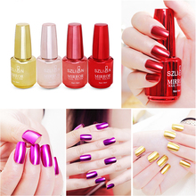 18 мл матовый лак для ногтей зеркало Long Lasting Nail Art Дизайн ногтей Лаки гель-лак 12 Цветов дополнительно Nail Art Инструмент TSLM1