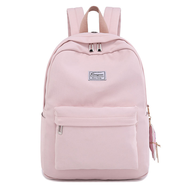 High Quality Waterproof Women Pink Backpack Lady Day Packs Middle School Student For Girls Trip Laptop Bookbag