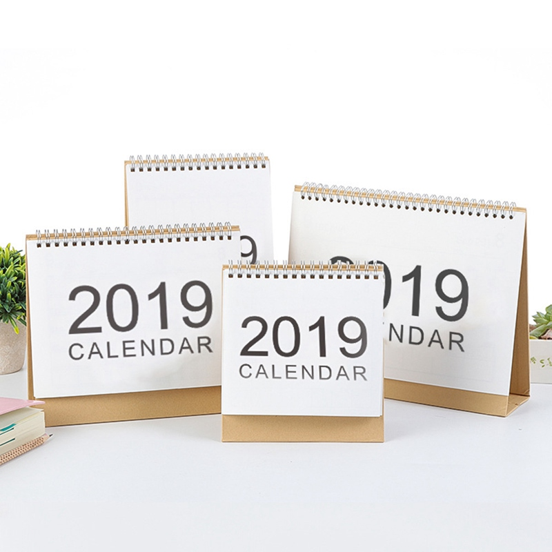 2019 Table Calendar Weekly Monthly Plan To Do List Desk Calendar New Simple Style Desktop Calendar 2018.6-2019.12 plan