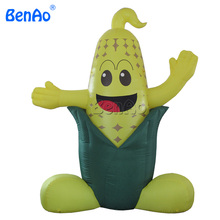 AC497 Free shipping+blower 3m inflatable cheap yellow cartoon corn balloon for advertising
