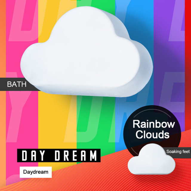 LAIKOU סבון ביצוע בעבודת יד הלבנת סבון אמבט מלח קשת בועת עור הלבנת סבון אמבט פצצת מתנת סט בועת אמבטיה Chirdren