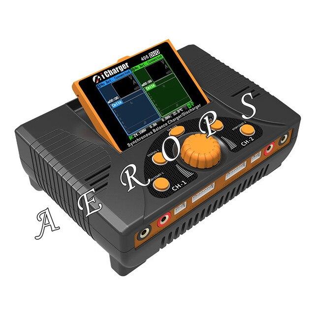 Aerops ICharger 406Duo 1400W 2*6S 40A RC araba ve helikopter güç kaynağı senkron Lipo pil şarj dengeleyici /deşarj