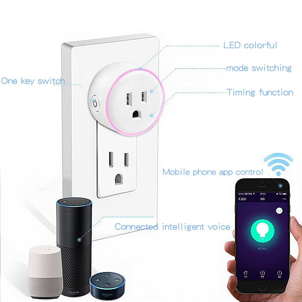 Image 3 - Smart Mini Socket Plug WiFi Wireless Remote Socket Adaptor charger  with Timer on and off Compatible with Alexa Google Home-in Mobile Phone Chargers from Cellphones & Telecommunications