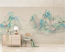 Купить с кэшбэком Beibehang Custom wallpaper mural color new Chinese ink landscape Mountain range Sofa bedroom hotel background wall 3d wallpaper