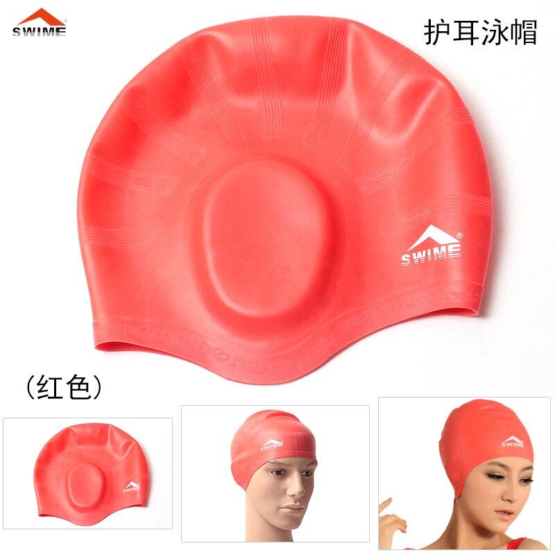 lovers swimwear Swime ear waterproof silica gel swimming cap large swimming  cap comfortable kids swim cap em Toucas de natação de Sports    Entretenimento no ... 66a2d811a3c