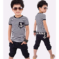 Toddler Boy Clothing Fashion Boys Summer Clothes Striped T-Shirt And Pants Children Clothing Set Casual Vetement Enfant