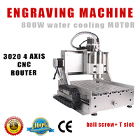 customized working size cnc machine AMAN 3020 4axis 800W CNC router
