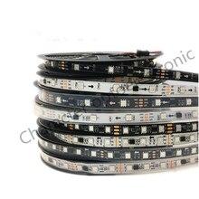 DC12V WS2811 5050 SMD RGB Strip Addressable 30/60leds/m Led Pixels External 1 ic control 3 Leds 5m/roll waterproof IP67/IP30
