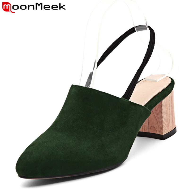 MoonMeek 2017 new arrive women pumps fashion kid suede spring autumn single shoes  high heels shoes ladies prom shoes  1pcs lot pci e 8pin male to 8 6 2 pin male graphics card power cable 18awg 60cm