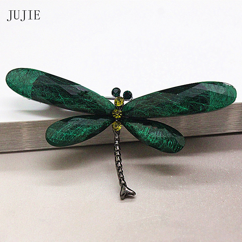 Fashion Vintage Painted Bird Acrylic Brooch Suit Shirt Pin Jewelry Gift N7