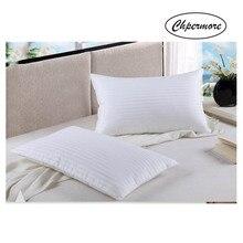 Chpermore pięciogwiazdkowy Hotel wysokiej jakości 100% jedwab poduszka ortopedyczne poduszki na szyję 48*74cm śpiąca zdrowie poduszka odkształcająca się