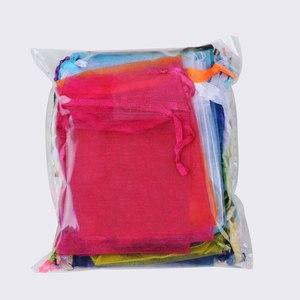 Image 5 - 500 sztuk/partia hurtownie torby z organzy 7x9 9x12 10x15 13x18cm na prezenty ślubne opakowanie prezent torba Party woreczki na biżuterię woreczki