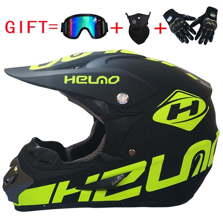 3 Gifts Racing Off-road Motorcycle Helmet Casco Moto Motocross Motorbike Helmet Moto Motorcycle Helmets Vintage Casco Motocross