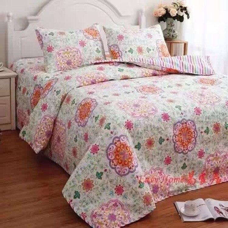 envo libre pas de amrica estilo floral bordado applique del remiendo edredn tamao completo reina