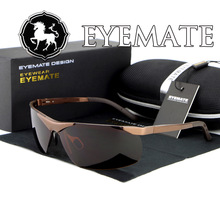 HDCRAFTER Aluminum-Magnesium Alloy Men's Sunglasses Polarizer shades Lens Driver Glasses Half-Frame Eyeglasses Gafas De Sol