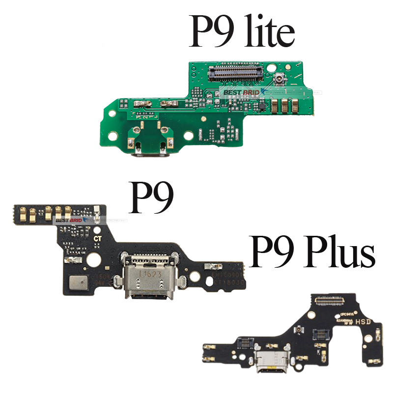 10pcslot USB Charger  Flex For Huawei  P9 Lite Plus Charging Dock Port Connector with Microphone Board Flex Cable