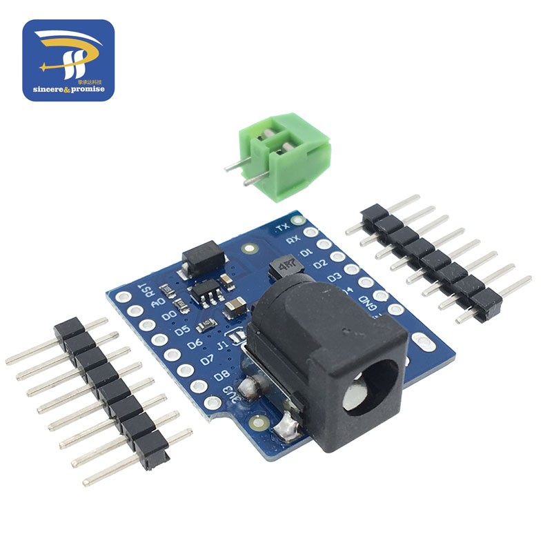 DC Power Shield V1.1.0 For Wemos D1 Mini Development Board DC Power Supply Screen Module