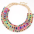 New 2015 Hot Pendant Necklace Women Trendy Jewelry Link Chain Statement Necklaces Colar Collar Rhinestone Pendants For Gift