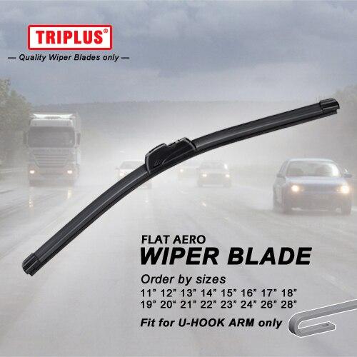 цена на U Hook Wiper Blade 11 12 13 14 15 16 17 18 19 20 21 22 23 24 26 28 Flat Aero Soft Windscreen Wiper J Hook, 1 pc