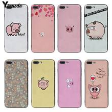 Yinuoda Cartoon Animal Pig Soft silicone Cover case For iPhone 8 8plus 7 7plus 6s 6sPlus 5 5S SE XSMax X XS XR(China)