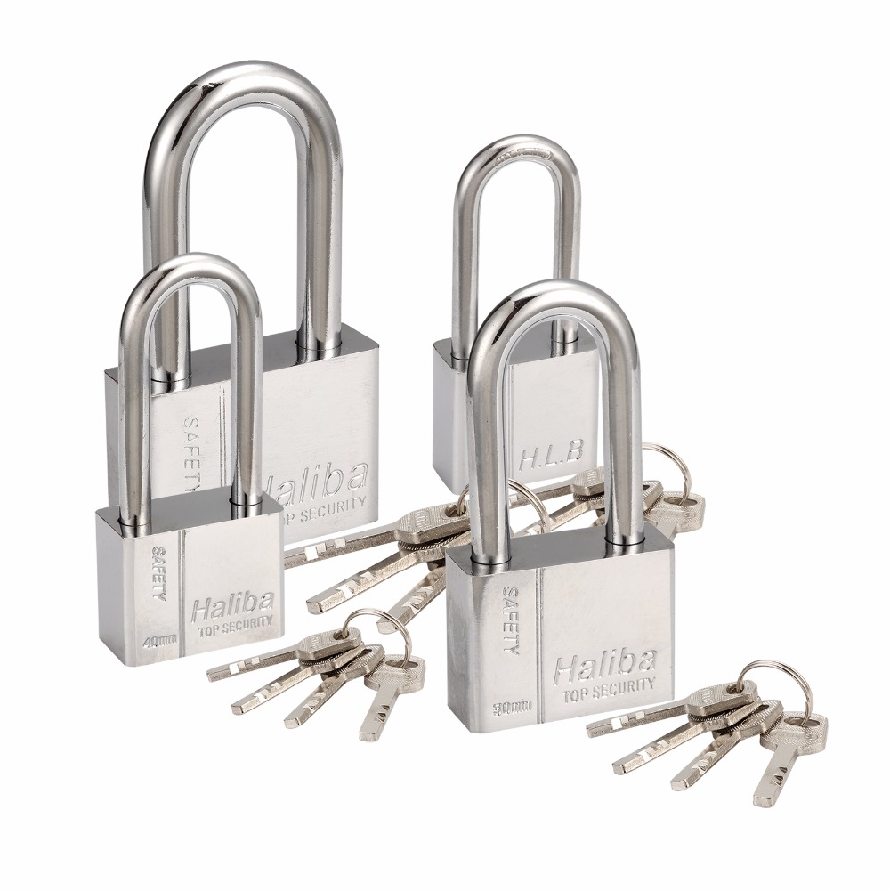 30mm/40mm/50mm/60mm Waterproof and Anti-rusting Blade Padlock Square Steel Lock for home Used Anti-theft Lock 3 Keys Choose 1pcs anti theft padlock iron gate security locks square small lock width 40mm 50mm 60mm 70mm with keys kf1079