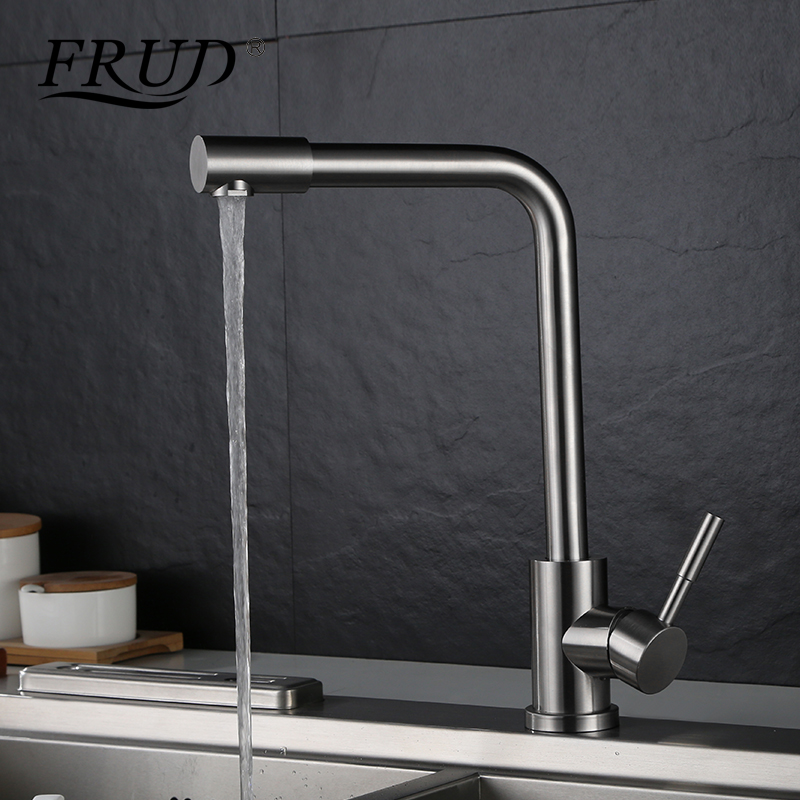 FRUD High Quality Kitchen Faucets 360 Degree Rotation Hot and Cold Water Kitchen Sink Tap Water Mixer torneira cozinha Y40009 kemaidi high quality brass morden kitchen faucet mixer tap bathroom sink hot and cold torneira de cozinha with two function
