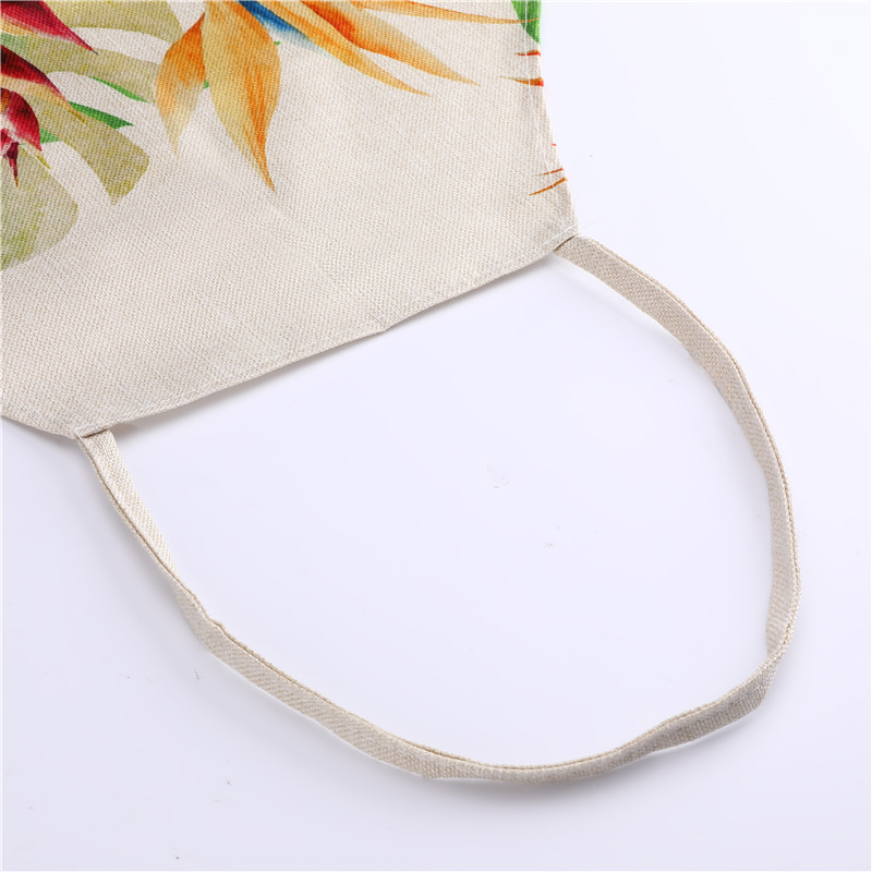 Image 3 - 1Pcs Flamingo Leaf Pattern Cotton Linen Aprons Home Cooking Baking Coffee Shop Cleaning Aprons Kitchen Accessories 53*65cm A1010-in Aprons from Home & Garden