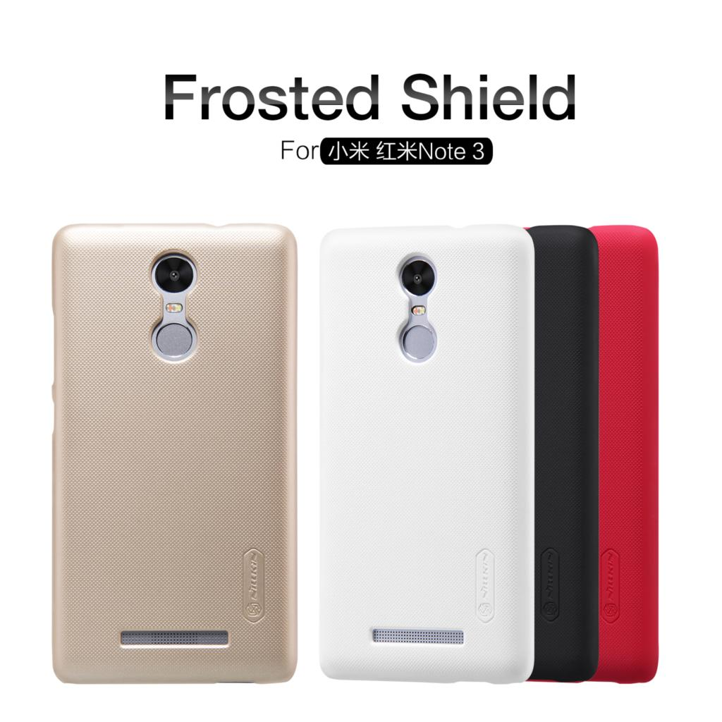 Xiaomi Redmi Note 3 Case Nillkin Frosted Shield PC Back Cover Case For Xiaomi Redmi Note 3 Pro Prime 5.5 inch Gift Film