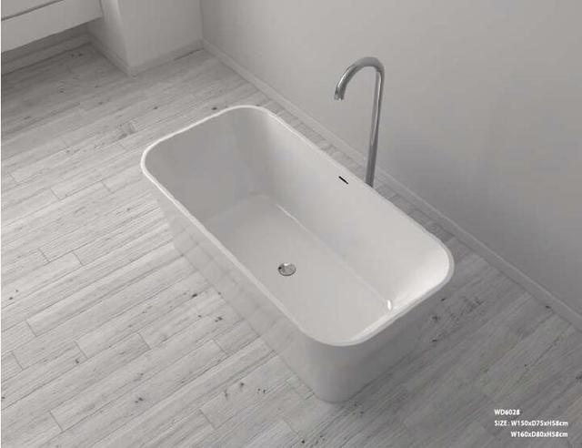 1600X800X580mm CUPC Approval Acrylic with Fiberglass Resin bathtub ...