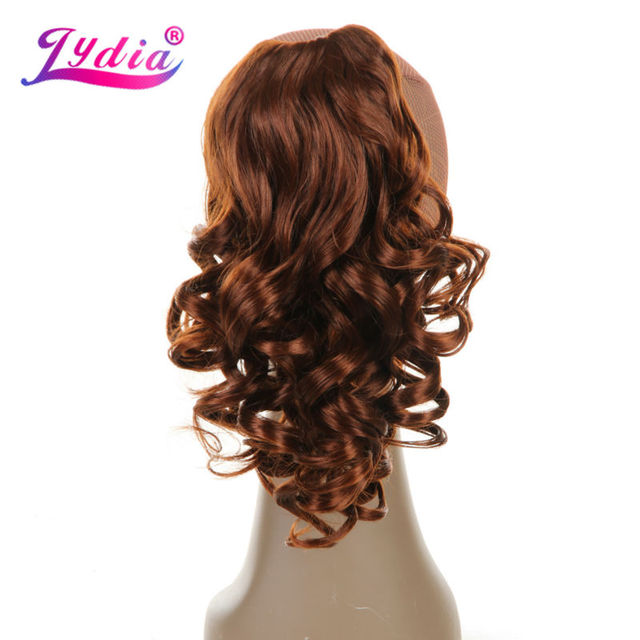 """Lydia 1PC Hair Extension 16"""" Pure Color Curly Wave Synthetic Ponytails Claw Hairpieces Nature Tail Hair Pieces"""