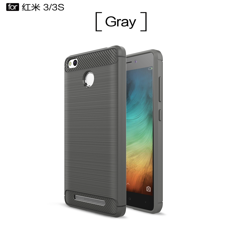 Carbon Fiber Case For Xiaomi Redmi 3S Case Ultra Slim Soft Silicone Gel Cover For Redmi 3 S Pro Shockproof Phone Cases