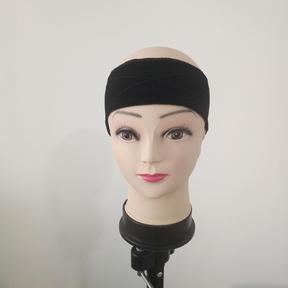 Håndlavet parykgreb, hold din paryk, hat eller tørklæde med komfortfølelse i sort farve