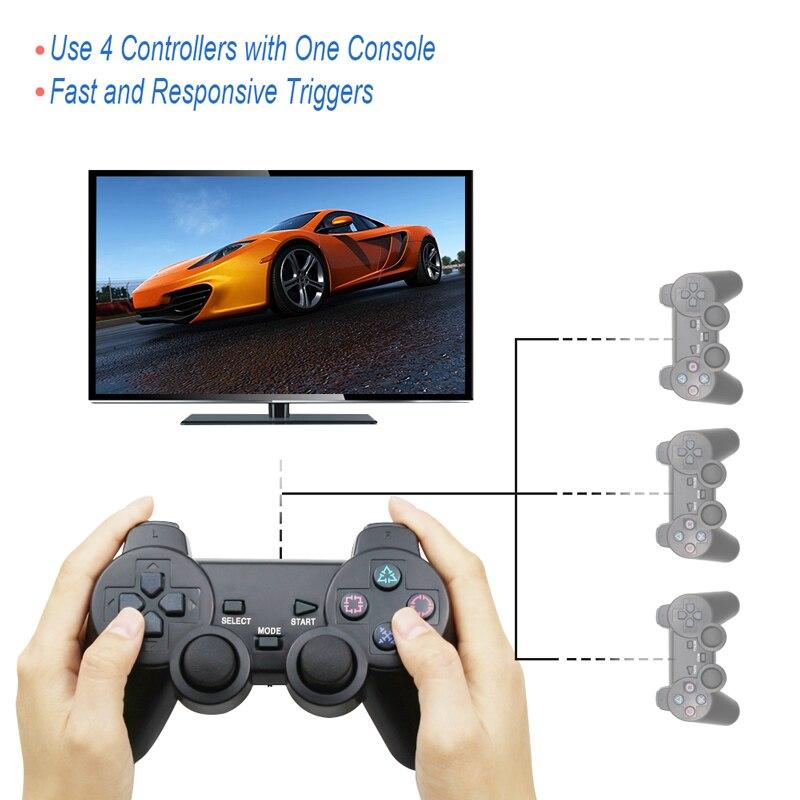 Image 5 - Gamepad senza fili per Sony PS2 Controller per Playstation 2  Console Joystick Doppia Vibrazione di Scossa Joypad Senza Fili  Controle-in Gamepad da Elettronica di consumo su