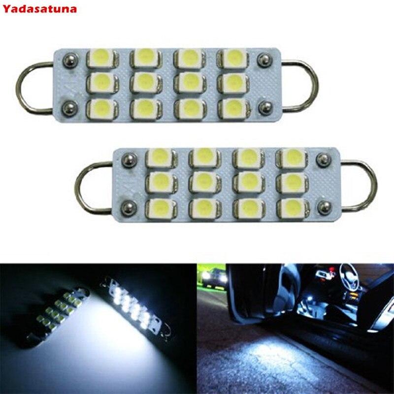 4Pieces/Lot 44mm 12-SMD 3528 Festoon LED Bulbs For Car Side Door Courtesy Area Rigid Loop 1.73 LED Light Bulbs 561 562 567