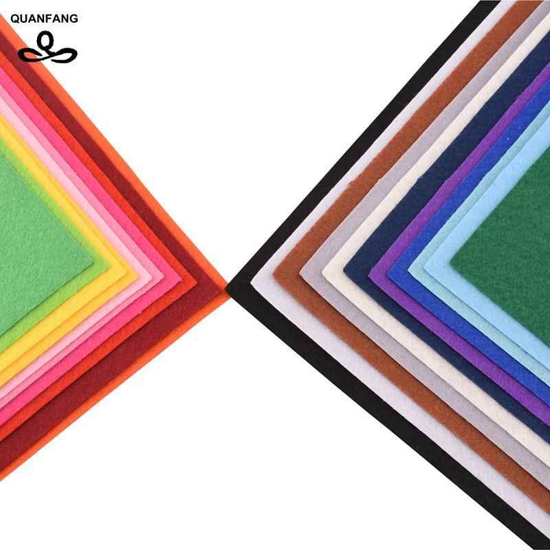 QUANFANG Kalınlığı 1mm Mix 22 adet/grup 40x45cm Polyester Keçe Kumaş Bez Patchwork DIY El Yapımı Dikiş ev Dekor Malzemesi