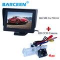"""4.3 """"дисплей + 4 светодиодных автомобилей заднего вида камеры использовать для Renault Fluence/Dacia Duster/Megane 3/для Nissan Terrano 4.3"""" монитор автомобиля"""