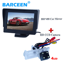 4.3″ display+4 led car rearview camera use for Renault Fluence/Dacia Duster/Megane 3/for Nissan Terrano 4.3″ car monitor