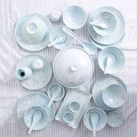 30 шт. Япония Классическая керамика синий и розовый кухня рисовая чаша большой рамен миска маленький чай чашки Посуда набор мисок подарок