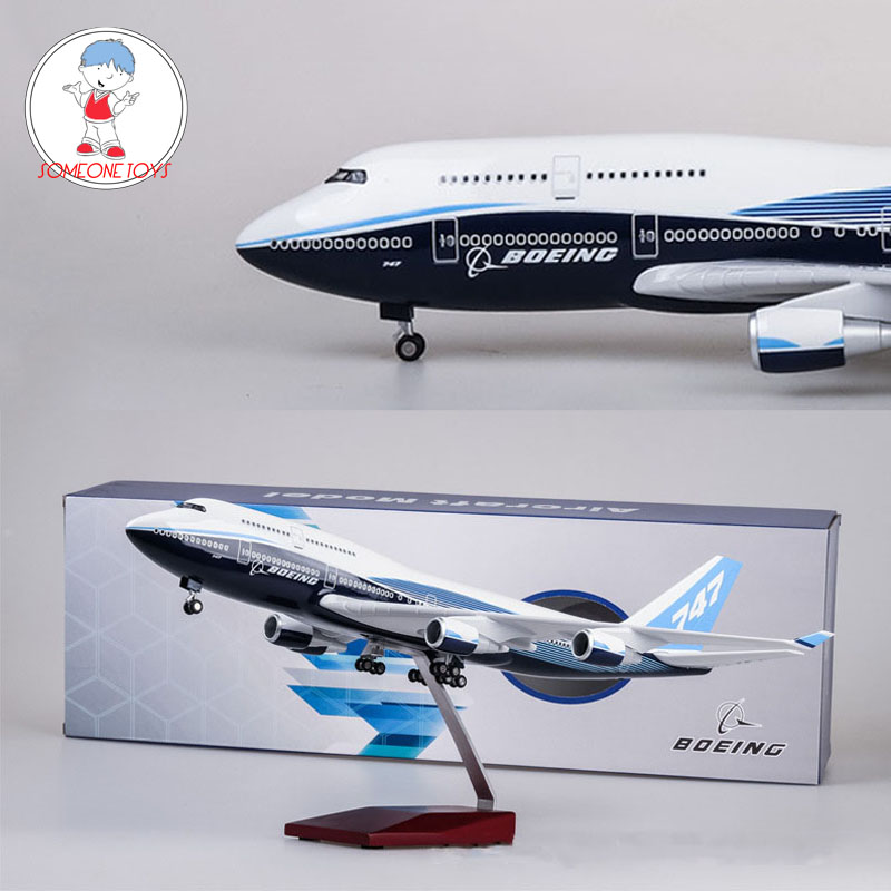 Stock 47cm 1/150 Scale Diecast Airplane Model Boe 747 High Quality Simulation Airliner B747 Children Collections Gift For Kids