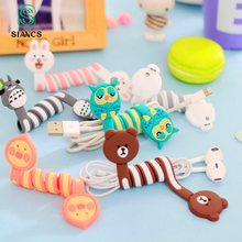 Cute Cartoon Earphone Wire Cord Cable Winder Organizer Holder for iPhone 5 Tablet MP3 MP4 PC