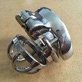 Anti-off aço inoxidável anel peniano gaiola cb6000s masculino chastity dispositivo penis bloqueio bdsm bondage cockring sexo brinquedos de metal para os homens