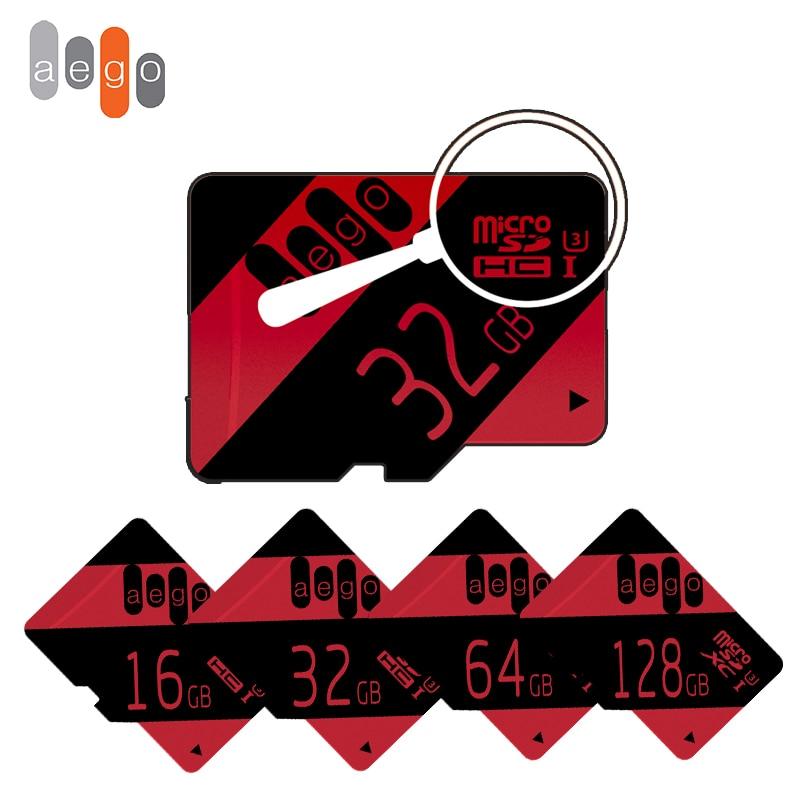 100% QualitäT Aego Micro Sd Karte 32 Gb Reale Kapazität 16 Gb 64 Gb 128 Gb Tf Karte Class10 Uhs-3 Speicher Karte Flash Für Smartphone Pad Kamera