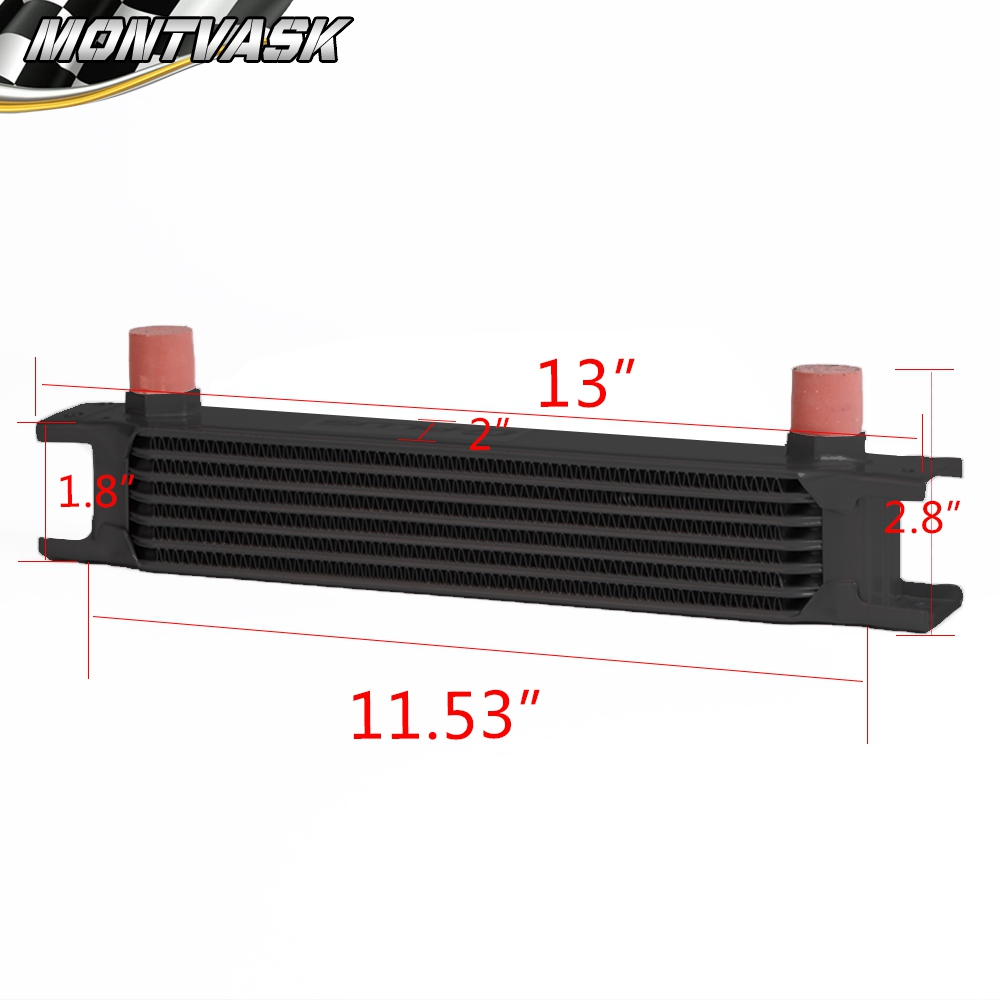 7 Row Engine Oil Cooler Relocation Kit For Bmw Mini Cooper S Supercharger R53