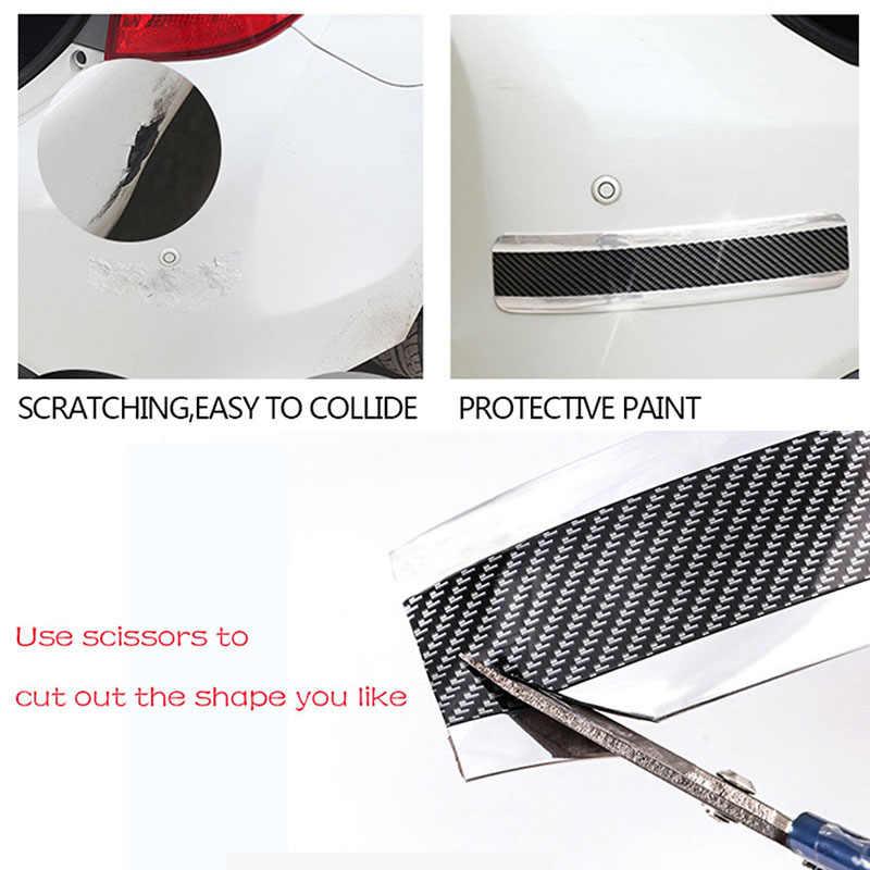 7 см * 1 м автомобиль углеродного волокна резиновый защитный кожух полосы порога защиты DIY аксессуар