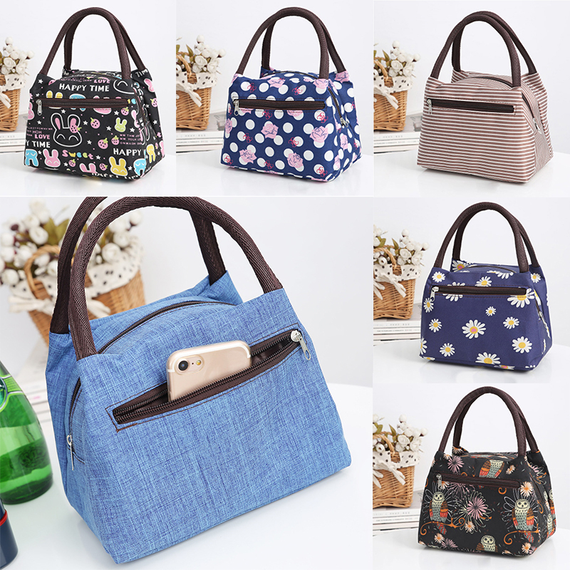 Zipper New Portable Lunch Bag Cooler Thermal Insulated For Kids Girls Women Thermique Cloth Picnic Handbag Travel GiftsZipper New Portable Lunch Bag Cooler Thermal Insulated For Kids Girls Women Thermique Cloth Picnic Handbag Travel Gifts